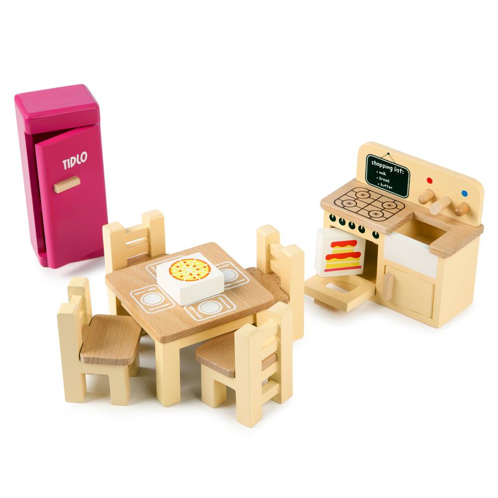 Tidlo Dukke køkken, træ - Sammenlign priser på BabyBaby